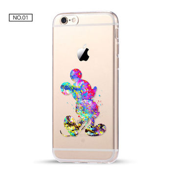 Mickey Clear Soft Disney Phone Case For iPhone 7 7Plus 6 6s Plus 5 5s SE C