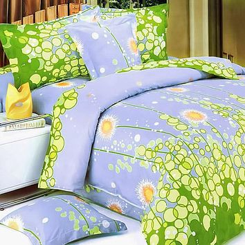 [Dandelion Dream] 100% Cotton 3PC Sheet Set (Twin Size)
