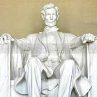 Abraham Lincoln Marble Statue - Lincoln Memorial - Photography of Washington DC - President LIncoln Wall Art - 8x8