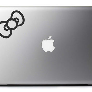 Hello Kitty Bow Vinyl Decal : MacBook Laptop Sticker Graphic Free USA Shipping
