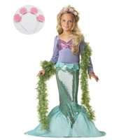 Children's Costumes for Girl Kids Halloween Carnival Birthday Party Clothing Outfit Baby Girl Little Mermaid Dress