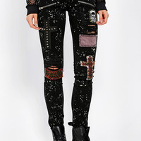 Tripp NYC Punk Patch Skinny Jean - Urban Outfitters