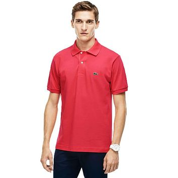 Short Sleeve Classic Pique Polo in Sirop Pink by Lacoste