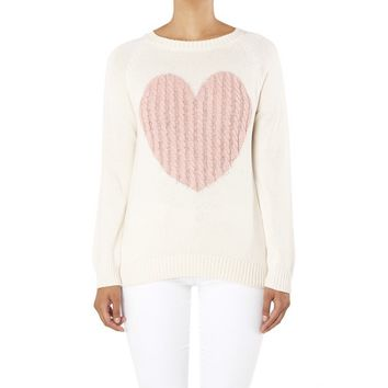Sweetheart Sweater - Oatmeal