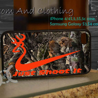 just shot it camo iPhone case, iPhone 4/4S, iPhone 5/5S, iPhone 5c, Galaxy S3 i9300, S4 i9500, Design By Custom And Clothing