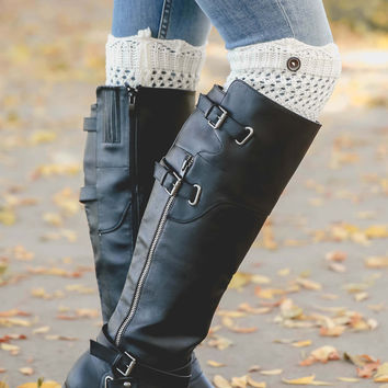 Knit Button Boot Cuff