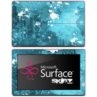 Spattered White & Blue Skin for the Microsoft Surface