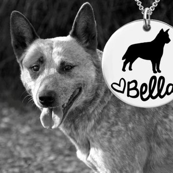 Australian Cattle Dog Personalized Necklace