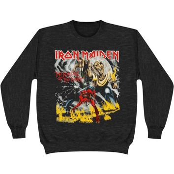 Iron Maiden Men's  Number Of The Beast Sweatshirt Black Rockabilia