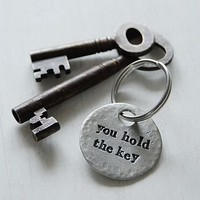 'You Hold The Key' Key Ring