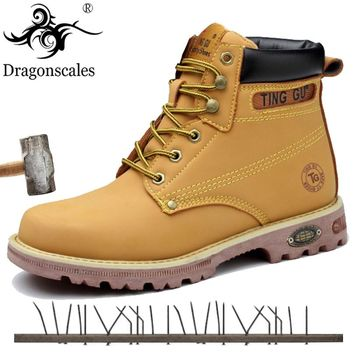 2019 Genuine Leather Men Steel Toe Cap Dr Martin Boots Work Safety