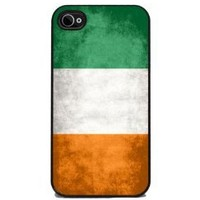 Irish Flag - iPhone 4 or 4s Cover, Cell Phone Case - Black