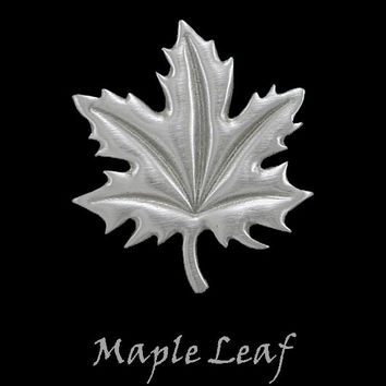 Maple Leaf Pin in Pewter by Frederick Design