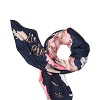 going places silk square scarf