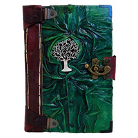 Tree Of Life Cast On A Leather Journal / by ALittlePresent on Etsy