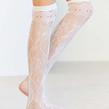 Rose Vine Lace Over-The-Knee Socks | Urban Outfitters
