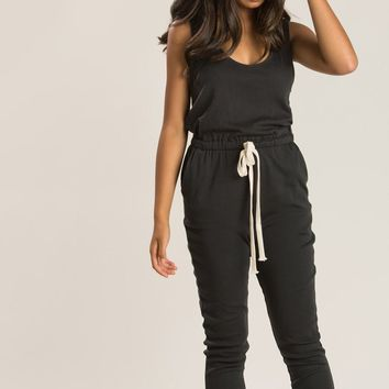 Becky Charcoal Lounge Jumpsuit