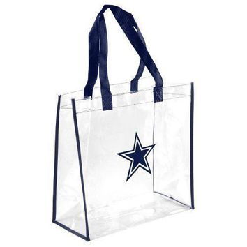 Dallas Cowboys Clear Reusable Plastic Tote Bag NFL 2017 Stadium Approved