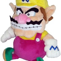 "Super Mario Plush - 7"" Wario Soft Stuffed Plush Toy Japanese Import"