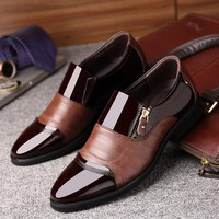 Men Zipper Dress Shoes