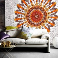 The Delaney Mandala Bohemian Bedspread Throw Wall Dorm Beach Tapestry