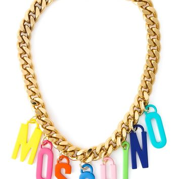 Moschino Logo Charm Necklace - Monti - Farfetch.com