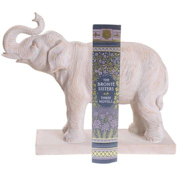 White Elephant Bookend - Set of 2