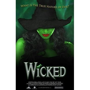 Wicked Theater Show Art poster Metal Sign Wall Art 8in x 12in