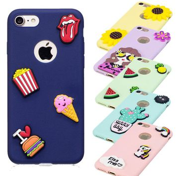 Fashion Candy Color Coque Case For Apple iphone On 5 5S SE 6 6S 7 Plus Soft TPU Silicone Phone Protective Cover Flexible shell