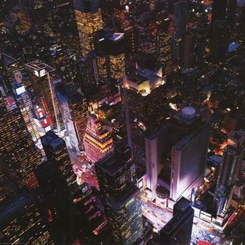 Times Square New York City Aerial View Poster 24x36
