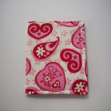 Pretty Valentine Lacey Hearts or Flannel Hearts Phone Cozy Sleeve Case for Ipod or Iphone Choose your Print