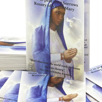 50 Seven Sorrows Rosary Prayer Booklets