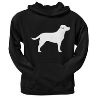 Chocolate Labrador Retriever Silhouette Black Adult Hoodie