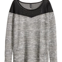 H&M - Fine-knit Top - Black - Ladies