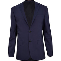 River Island MensPurple slim suit jacket