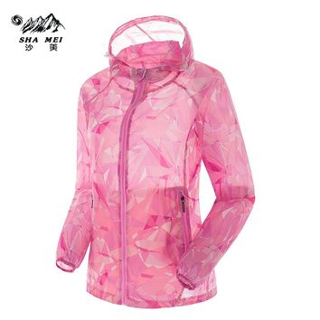 2017 Men's Women'sOutdoor Hiking Camping Trekking Running Sport Coats Summer Quick Dry Anti-UV Ultralight Jackets