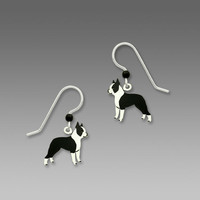 Sienna Sky Earrings - Boston Terrier