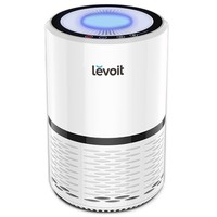 Levoit Air Purifier Filtration with True HEPA Filter, Compact Odor Allergies Allergen Eliminator Cleaner for Room, Home, Dust, Mold, Pets, Smokers, Cooking, Night Light, LV-H132