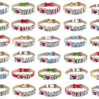 Hot 30PCS/LOT I Love One Direction Band Wristband I Love 1D Bracelet