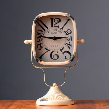 Home Decor Vintage Accessory Pastoral Style Clock [6282971398]