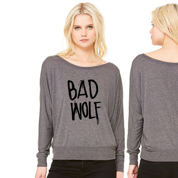 Dr Who Bad Wolf women's long sleeve tee