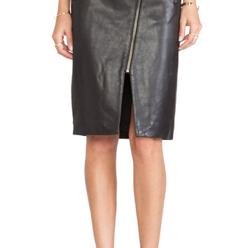Mason by Michelle Mason Zippered Pencil Skirt in Black