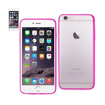 Reiko Iphone 6 Plus- 6s Plus Clear Back Frame Bumper Case In Pink