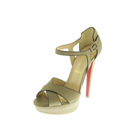 Christian Louboutin Womens Sporting Leather Strappy Heels