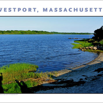 Wall Decor, Beach on the Westport River, Massachusetts...Photo Art #748