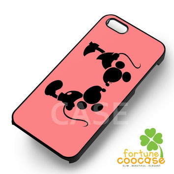 Disney Mickey and Minnie Mouse Silouhette -end for iPhone 6S case, iPhone 5s case, iPhone 6 case, iPhone 4S, Samsung S6 Edge