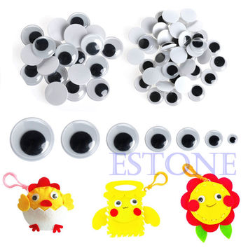 Hot 520PCS 6-20mm Wiggly Wobbly Googly Eyes Self-adhesive Scrapbooking Crafts Set