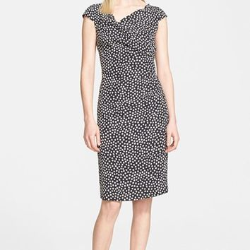 Women's Max Mara 'Ercole' Cap Sleeve Silk Dress