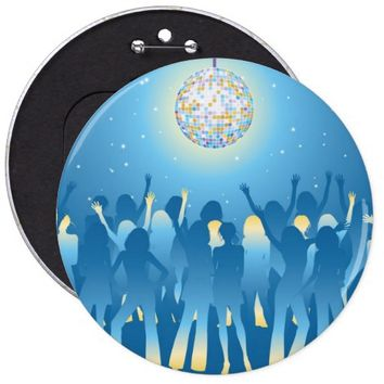 cool blue button disco ball