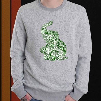 Elephant sweater Sweatshirt Crewneck Men or Women Unisex Size